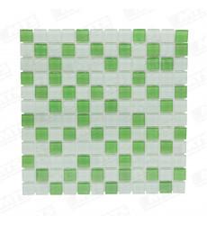Malla Vidrio Mosaico Verde 4mm A-0006