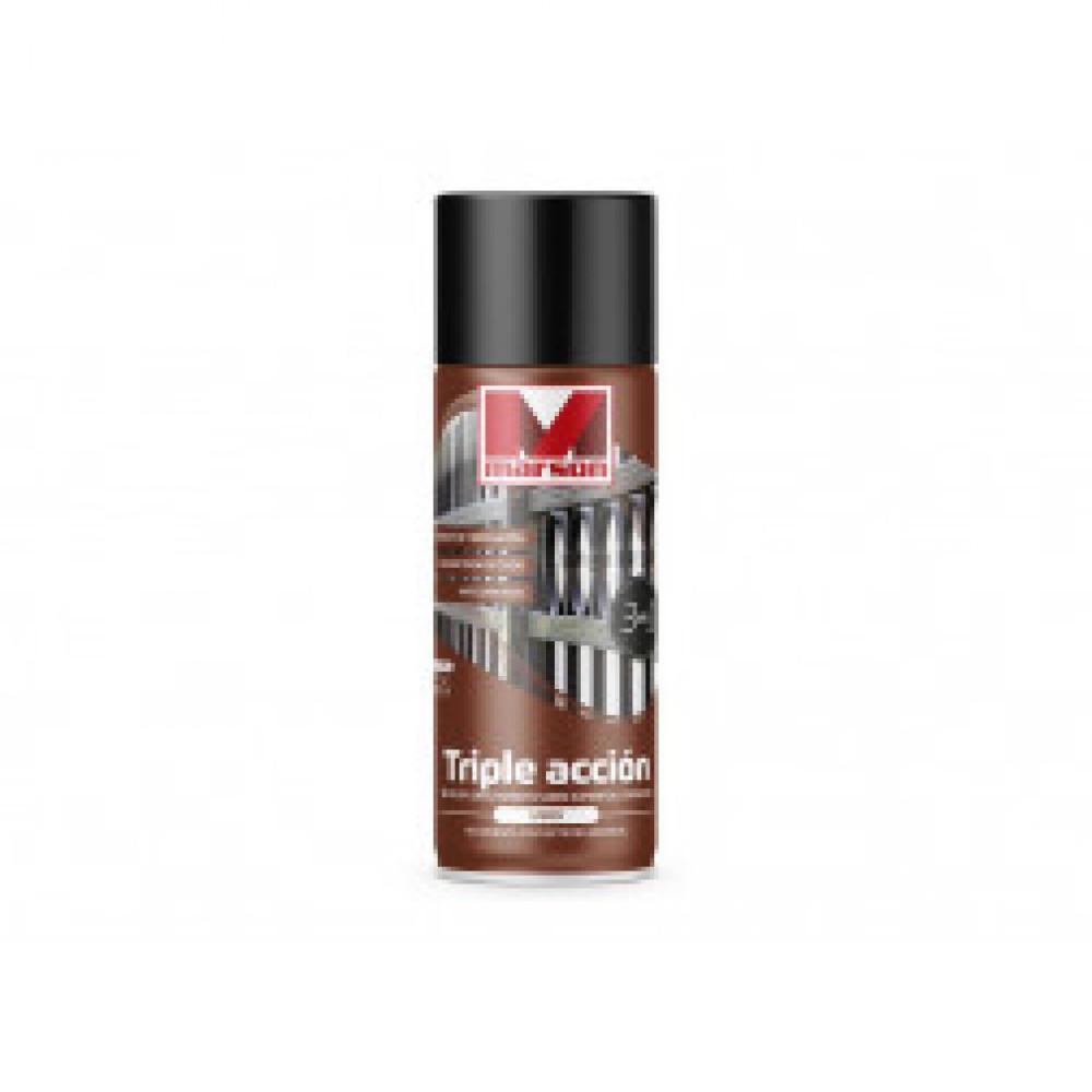 Pintura Spray Triple Accion Negro Marson