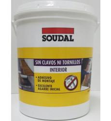 Adh.sin Clavos Ni Tornillos Interior 3.8kg Soudal