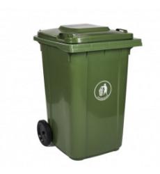 Contenedor Basura Qrubber 360 Lts Verde