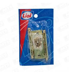 Bisagra L240 2.5x2.5 Bronceada P/s C/per Y Torn