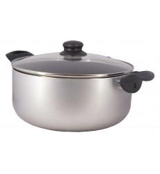 Cacerola Teflon Silver 24