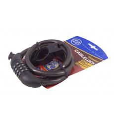Candado Modelo Cablelock Cable 120 Cms Negro