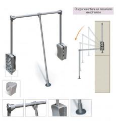 Colgador Abat Alum Y Plast Aluminio 83115