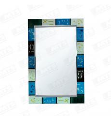 Espejo 60x90 Rect.c/franja Contor. Azul (151609038