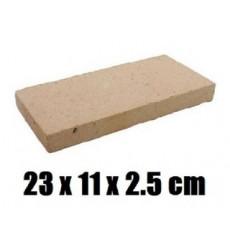 Ladrillo Refractario Tablilla 23cmx11.5cmx2.5cm