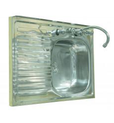 Lavaplato 80x50 (b+s) Sobrep. - P/comb. Sec.izq