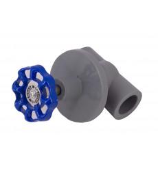 Llave Paso Fusion 25 Met. M/alum Azul (b84634)