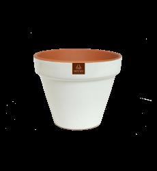 Macetero Ceramico Blco 15cm