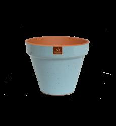 Macetero Ceramico Azul Cielo 19cm