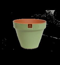 Macetero Ceramico Verde Salvia 19cm