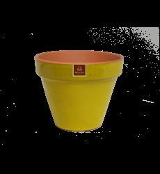 Macetero Mostaza 24 Cm Ceramico