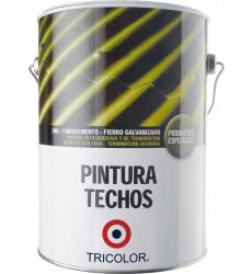 Pintura Techo Base Agua Tricolor Negro 1 Gl