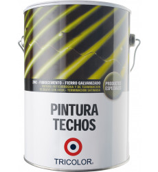 Pintura Techo Base Agua Tricolor Rojo Oxido 1 Gl